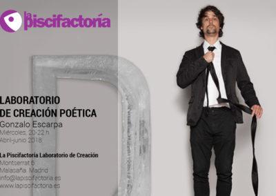 Laboratorio de creación poética, con Gonzalo Escarpa (miércoles)