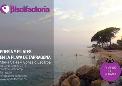 Poesía y pilates en la playa de Tarragona, con María Salas y Gonzalo Escarpa