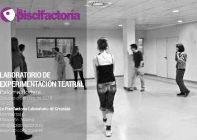 Laboratorio de experimentación teatral, con Paloma Rodera