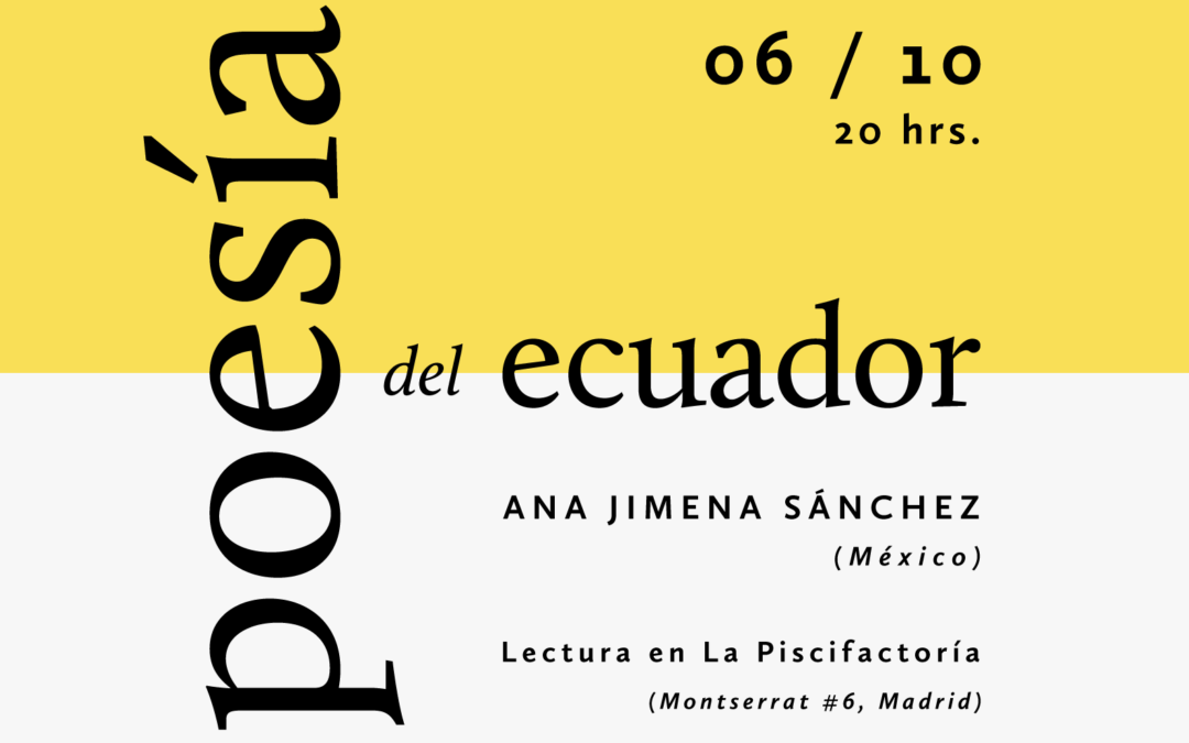 Recital de Ana Jimena Sánchez, poeta mexicana