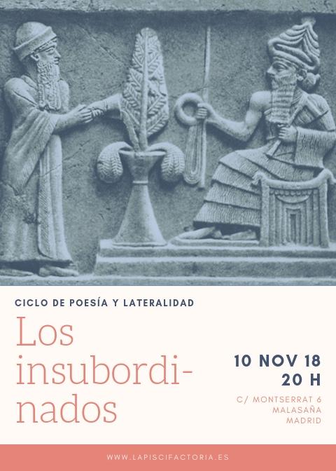 """Ciclo de poesía """"Los insubordinados"""": de Grandy, Bakero, Cussen"""
