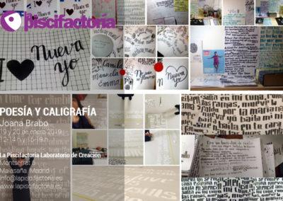 Taller de poesía y caligrafía, con Joana Brabo