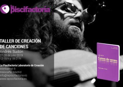 Taller de creación de canciones, con Andrés Sudón (verano)