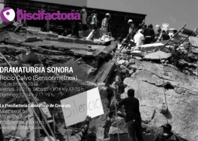 Taller de dramaturgia sonora, con Rocío Calvo (Sensorimétrica)