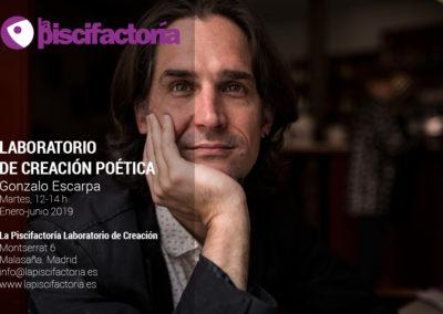 Laboratorio de creación poética, con Gonzalo Escarpa (matinal)