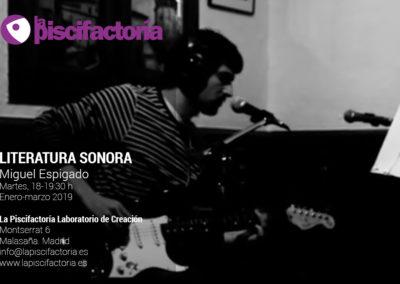 Literatura sonora, con Miguel Espigado