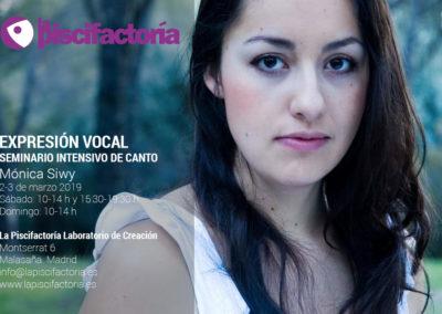 Seminario intensivo de canto, con Mónica Siwy