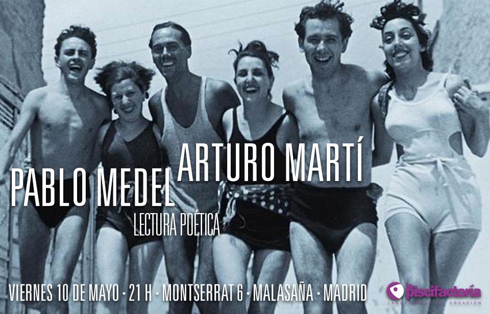 Lectura poética de Arturo Martí y Pablo Medel