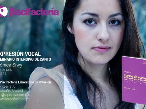 Seminario intensivo de canto, con Mónica Siwy (verano)