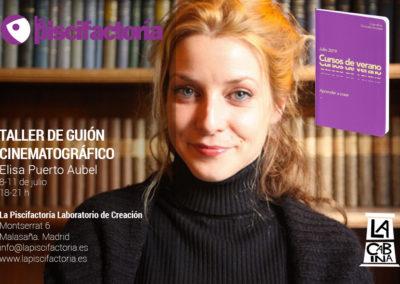 Taller de guión cinematográfico, con Elisa Puerto (verano)