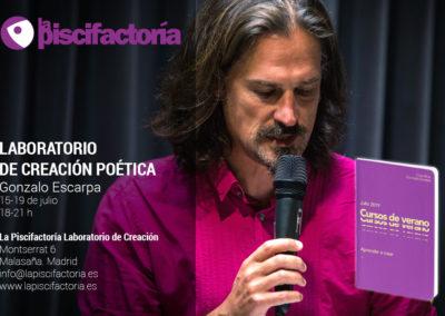 Laboratorio de creación poética, con Gonzalo Escarpa (verano)