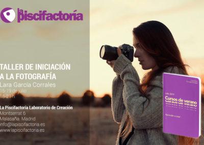 Taller de iniciación a la fotografía, con Lara García Corrales (verano)