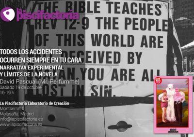 Taller de narrativa experimental, con David Pascual (Mr. Perfumme)