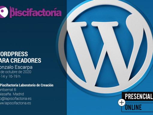 WordPress para creadores, con Gonzalo Escarpa